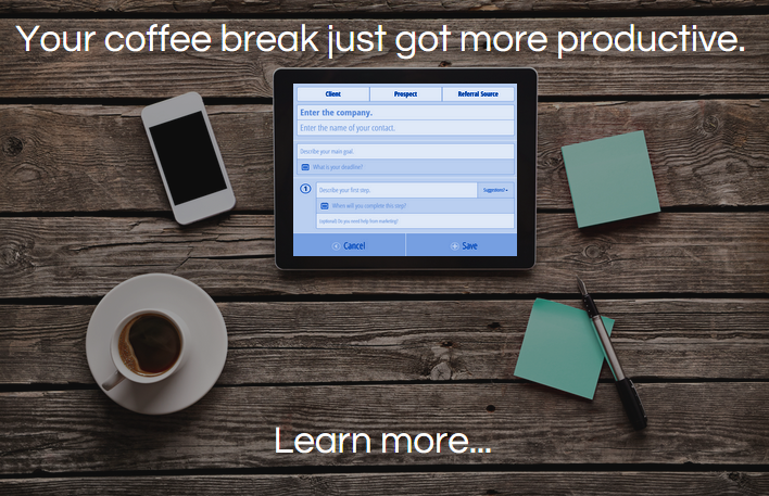 your coffee break just got more productive. learn more...